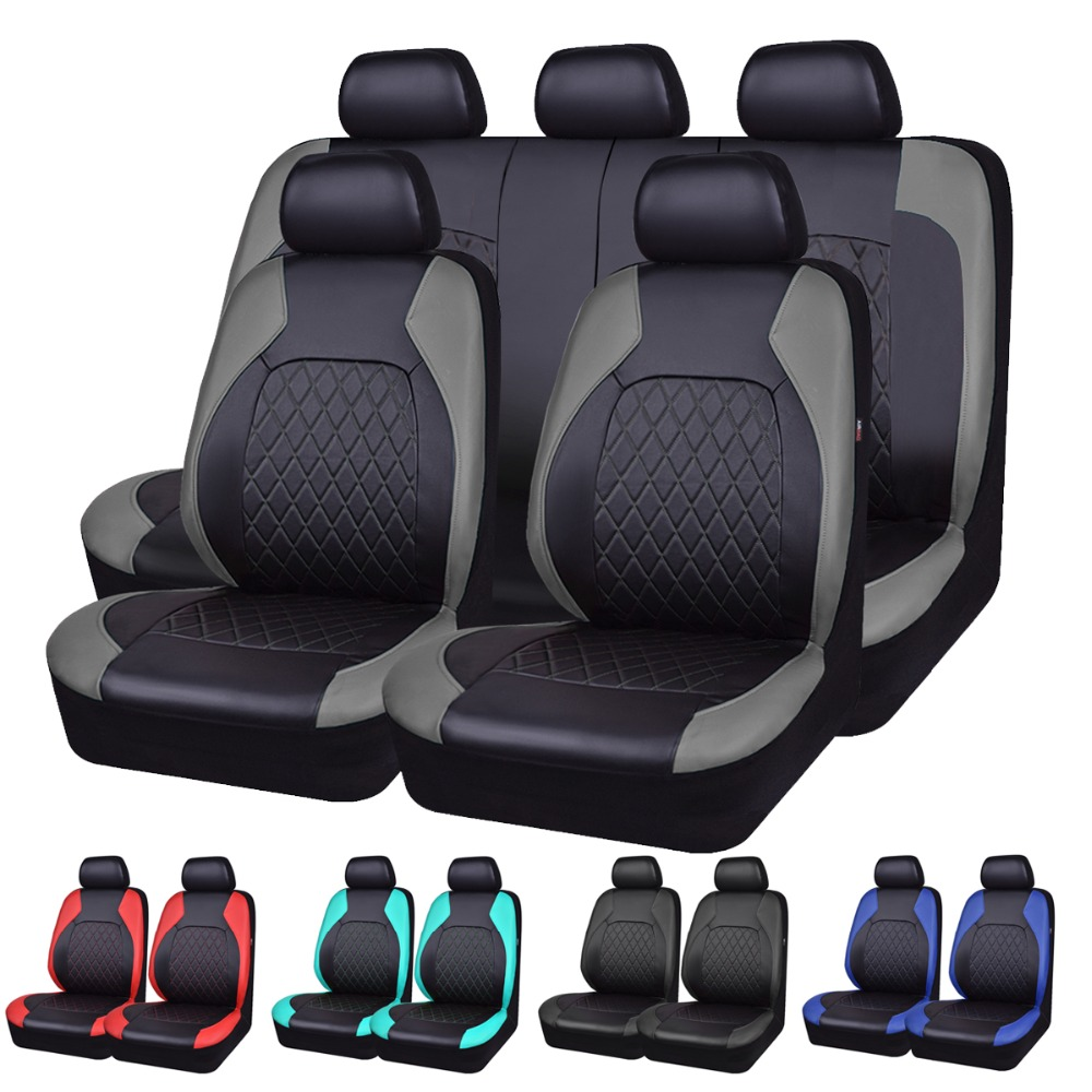 Car-pass Luxury PU Leather Auto Universal Car Seat Covers Automotive Seat Covers For Toyota Lada Kalina Granta Priora renault