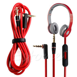 1PC Hot Sale 3.5mm L Jack Audio Cable Cord Wire Replacement for Beats Solo HD Studio Pro Mixr Drop Shipping-M33