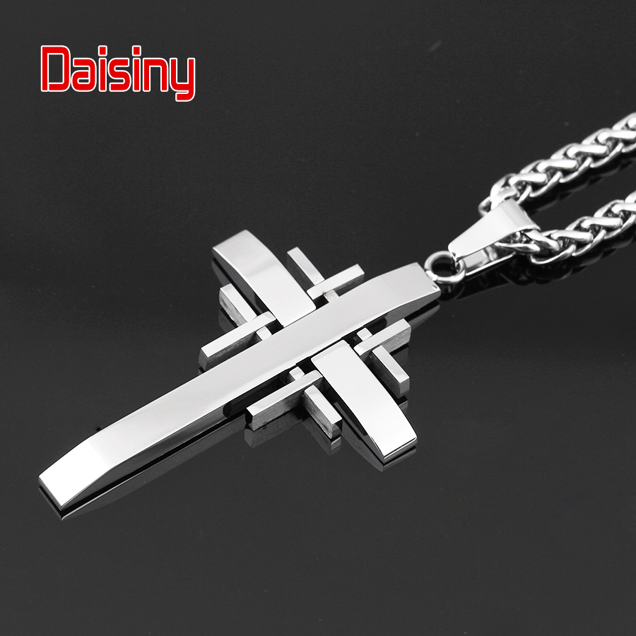 Classic Cross Pendants For Men Jewelry 316L Stainless Steel Never - Fashion Jewelry - Photo 6
