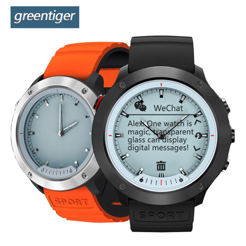 Greentiger M5 Montre Smart Watch Écran Transparent Bande À Puce IP68 Étanche Moniteur de Fréquence Cardiaque Hybride Smart Bracelet