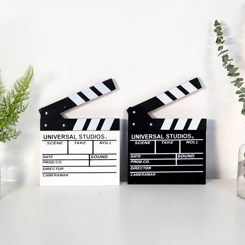 TV Movie Clapper Board Photobooth Props Home DIY Decorations Classical Director Video Scene Film Slate Cut Action Prop Party