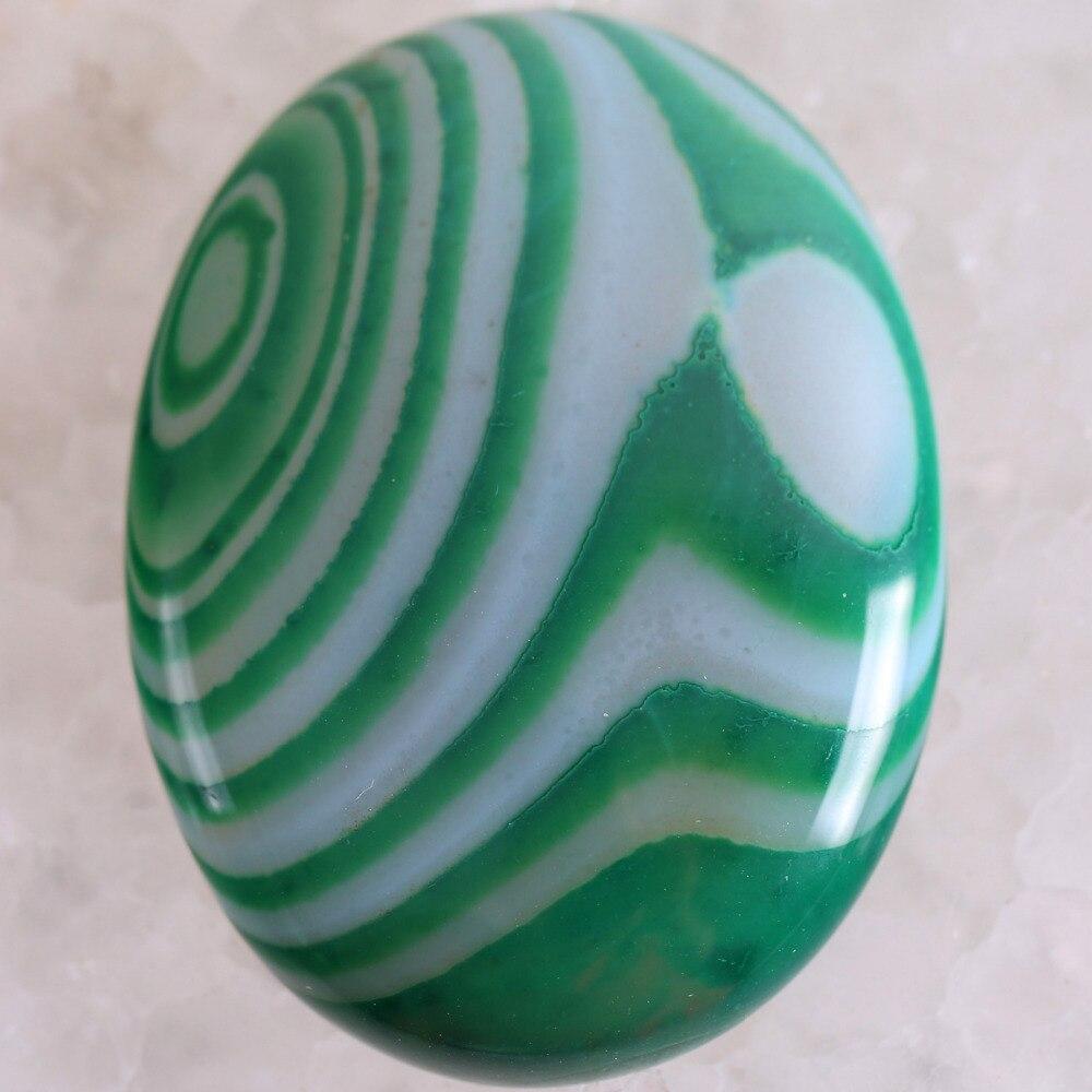 Free Shipping Fashion Jewelry Natural Stone Green Veins Onyx CAB Cabochon 1Pcs K1703
