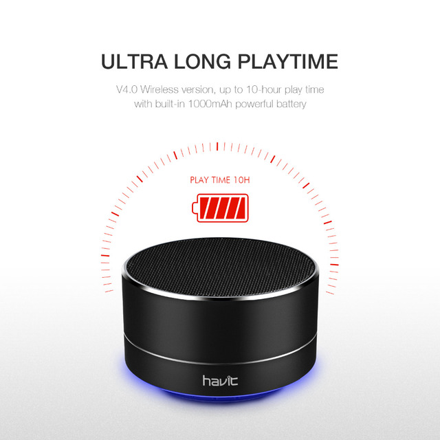 Havit Mini Bluetooth Speaker Super Bass 3D Stereo Loudspeaker wireless Portable Speaker with 3.5mm Aux Micro SD Card M8