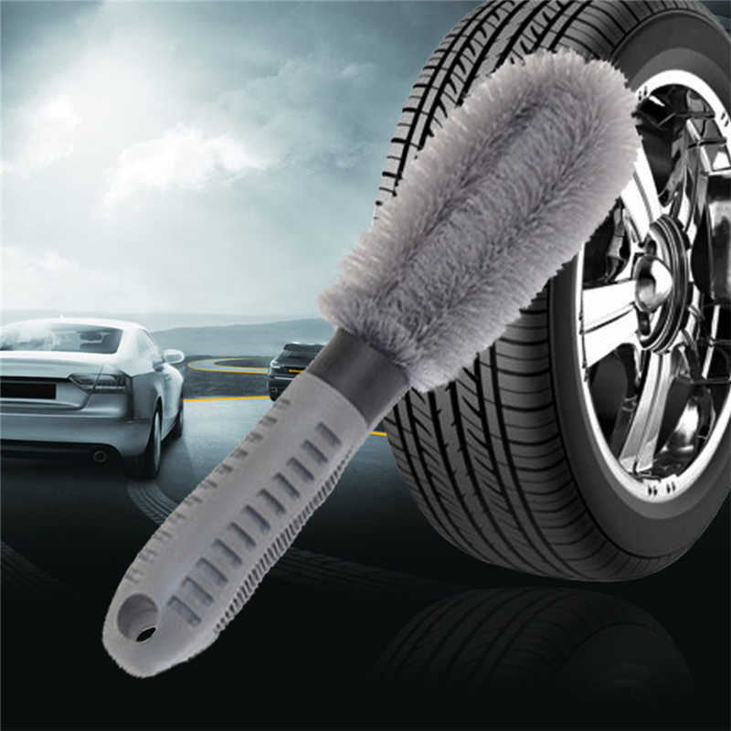 רכב אוטומטי משאית אופנוע סגסוגת דיבר גלגל רכזת שפה נקי חוט מצופה פלסטיק צמיג מברשת לשטוף כביסה ניקוי כלי