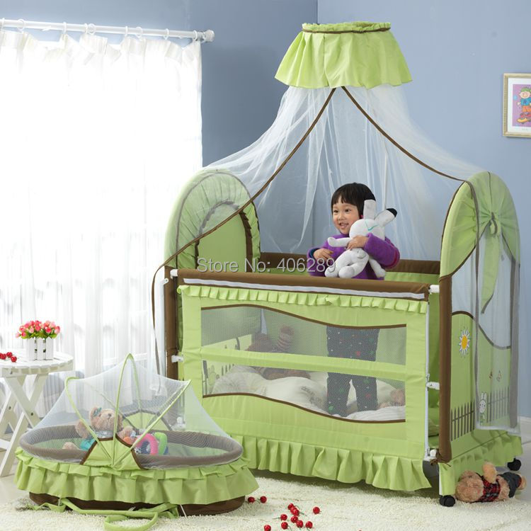 Baby Bed Cradle Bed Baby Shaker Band Mosquito Net Roller Multifunctional Game Bed Bed Bb Elysium Baby Bedding Set duchenne baby carriage newborn european multifunctional cradle bed crib folding baby bed with mosquito net game bed