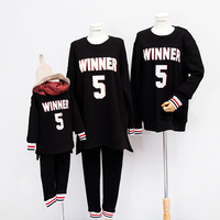 Letter Printed Cotton Thicken Family Matching Clothes sets Winter Pullover Sweaters Mother Daughter Father Son Family Clothing