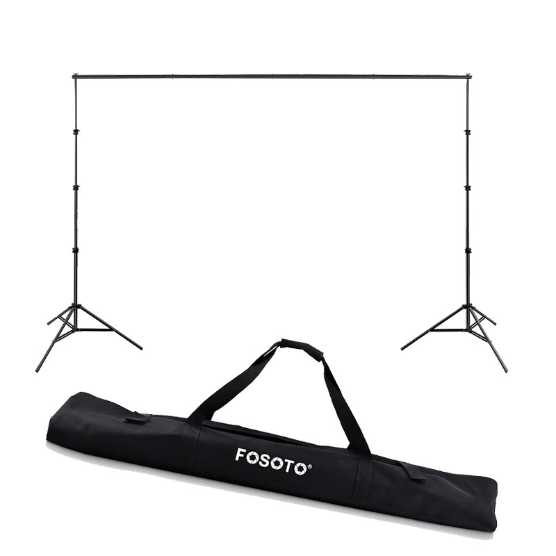 fosoto 2.6*3m Photo Studio Background Folding Tripod Stand Backdrops Frames For Video