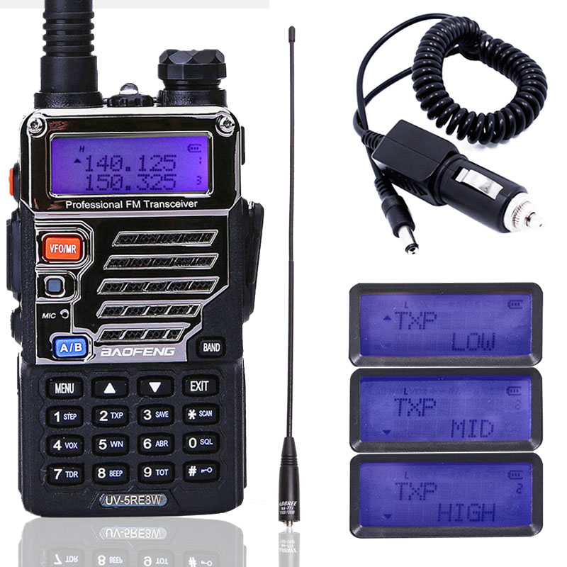 Baofeng Walkie-Talkie Ham-Radio Powerful Dual-Band Handheld VOX 10km 8W Flashlight Long-Range