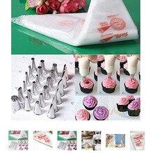 100 PCS Baking Decorating Bag For Baking Cake Tool Disposable Piping Bag Icing Nozzle Fondant Cake Decorating Pastry Tips Tools