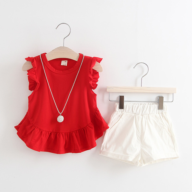 72c7d2f4c8c0a US $6.95 5% OFF|NYSRFZ Newborn Baby Girls Clothes Cute Smile Children  Clothing Tops+Shorts 2pcs summer/spring Suit little girl Clothing Set-in ...