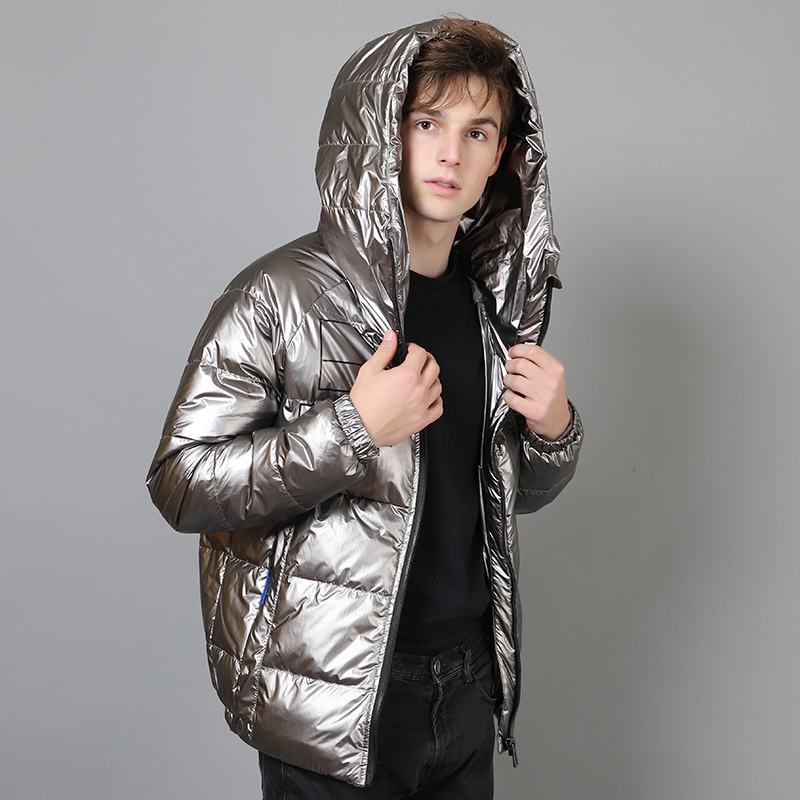 Moda uomo inverno breve giù giacca