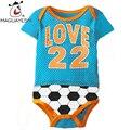 Лето Детские Боди Новорожденного Мальчика Девушки Одежда Детская Спортивная Одежда Футбол Баскетбол Печати Детские Дети Боди