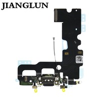 JIANGLUN 5xCharging Dock Port Flex Cable with Microphones Antenna for iPhone 7 4.7''