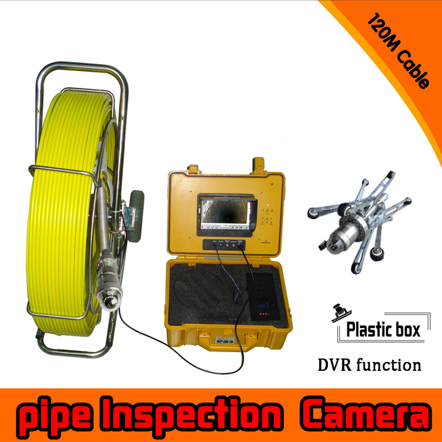 (1 set)120M Cable surveillance system Pipe Inspection Camera Underwater waterproof IP68 DVR function CCTV camera system pan tilt