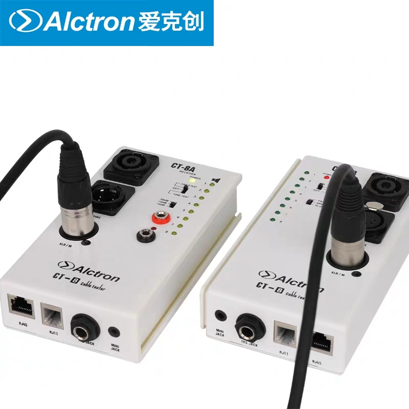 Alctron CT 8 multi purpose audio cable tester test for diversity cable if they are in
