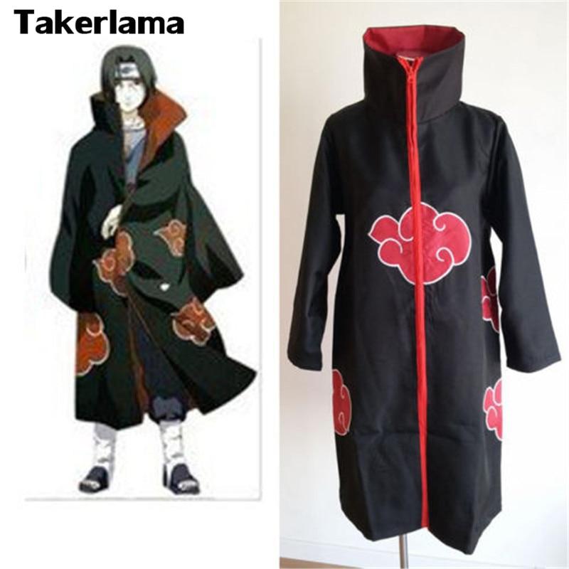 Takerlama Naruto Akatsuki Itachi Uchiha Men's Cosplay Costume Cloak