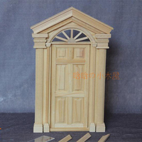 1:12 Dollhouse Miniature DIY Material Wooden Luxury Exterior Door Unpainted 6 Panel #D02