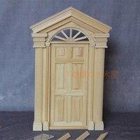 1:12 Dollhouse Miniature DIY Material Wooden Luxury Exterior Door Unpainted 6 Panel #D02