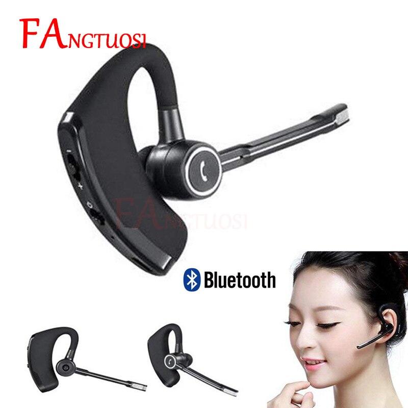Fangtuosi alta qualidade v8s negócios bluetooth fone de ouvido sem fio com microfone para iphone bluetooth v4.1 telefone handsfree