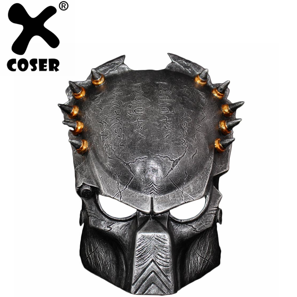 XCOSER Alien Predator Wolf Mask 2018 Moive Bronze & Silver Resin Mask Party Gift Halloween Cosplay Costume For Men