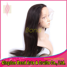 Grade 8A brazilian full lace human hair wig with natural hairline Brazilian Straight full lace wigs for black women