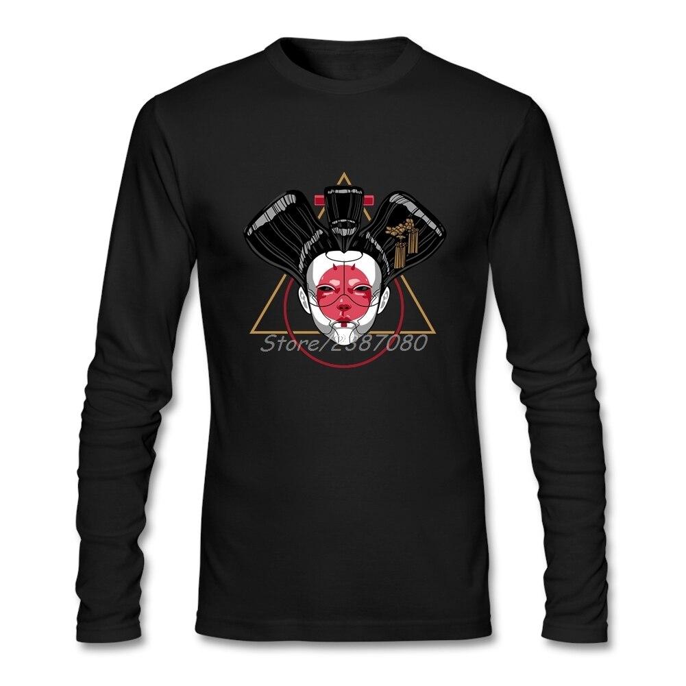 Мужская футболка с длинным рукавом Ghost In The Shell, горячая распродажа
