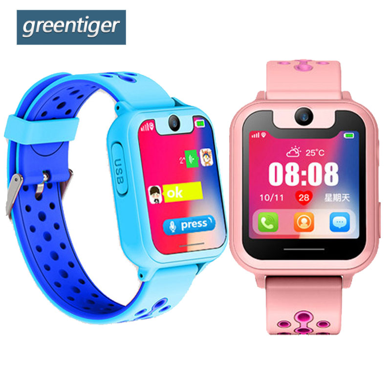 Greentiger S10 Smart Kids Watch GPS Tracker SOS Call back SIM Location Device Camera for Baby Safe Children Smart Watches