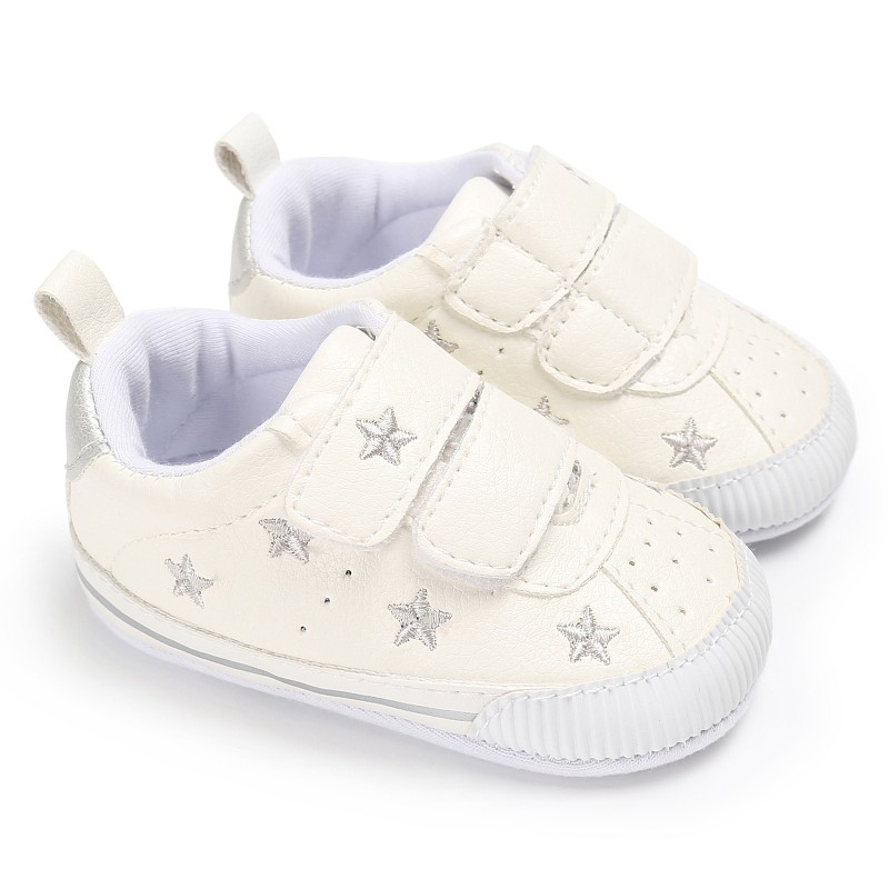 Newborn baby boy shoes infant anti-slip PU Leather Star first walker soft soled Newborn Sneakers Baby girl shoes