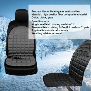 Image 4 - Car seat electric heating pad 12V Heated Car Seat Cushion Winter Auto Cushion Seat Cover Heated Seat Cushion