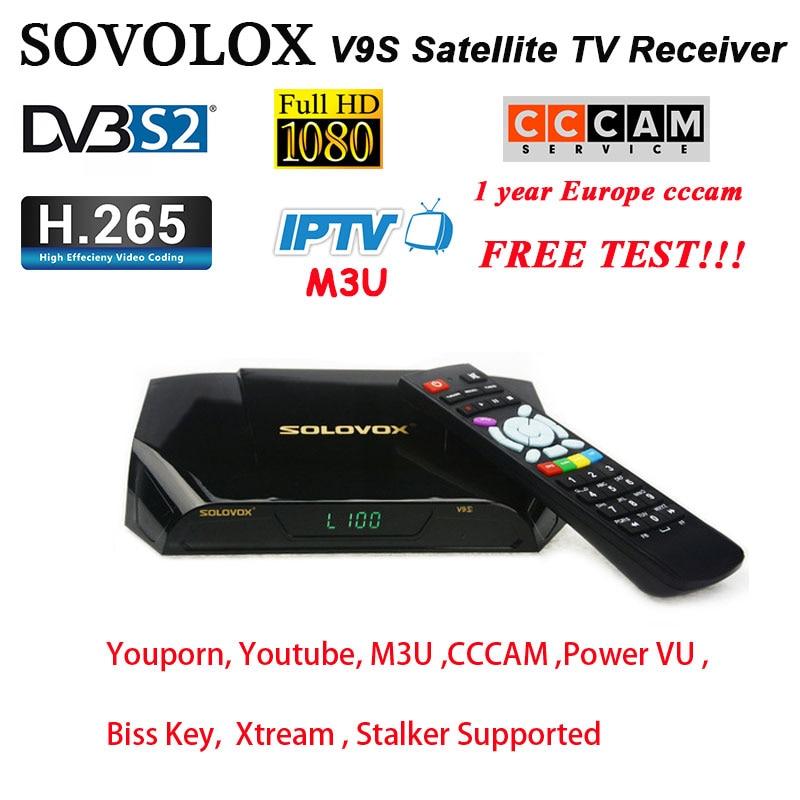 Récepteur de télévision par Satellite SOLOVOX V9S DVB-S2 prise en charge numérique HD iptv m3u CCCAM NewCam USB WIFI puissance VU récepteur de Stalker Xtream h96