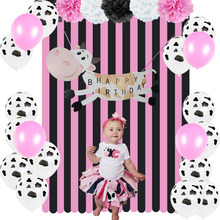 Cowgirl Birthday Party Decoration Kit Farm Barnyard Themed Animal Happy Banner Crepe Paper Streamer Cow Latex Balloons