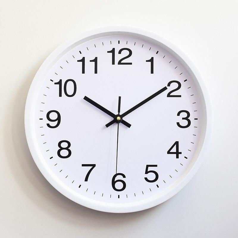 Clássico Simples Relógios de Parede Do Vintage 2019 Nova Chegada Moderno Rodada Relógio de parede Relógio de Quartzo Horloge Retro Wathces Plasitc