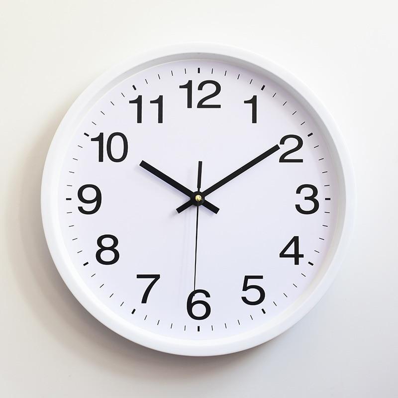 Classique Simple Vintage horloges murales 2019 nouveauté moderne ronde en plastique Horloge Quartz Horloge rétro Wathces Relogio de parede