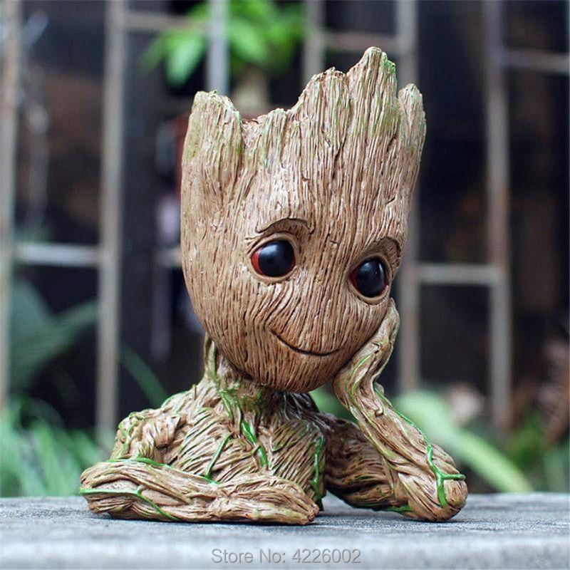 100% Wahr Baum Mann Baby Anime Pvc Action Figure Puppe Federhalter Guardians Of The Galaxy 2 Film Modell Stift Blumentopf Kinder Spielzeug Für Kinder