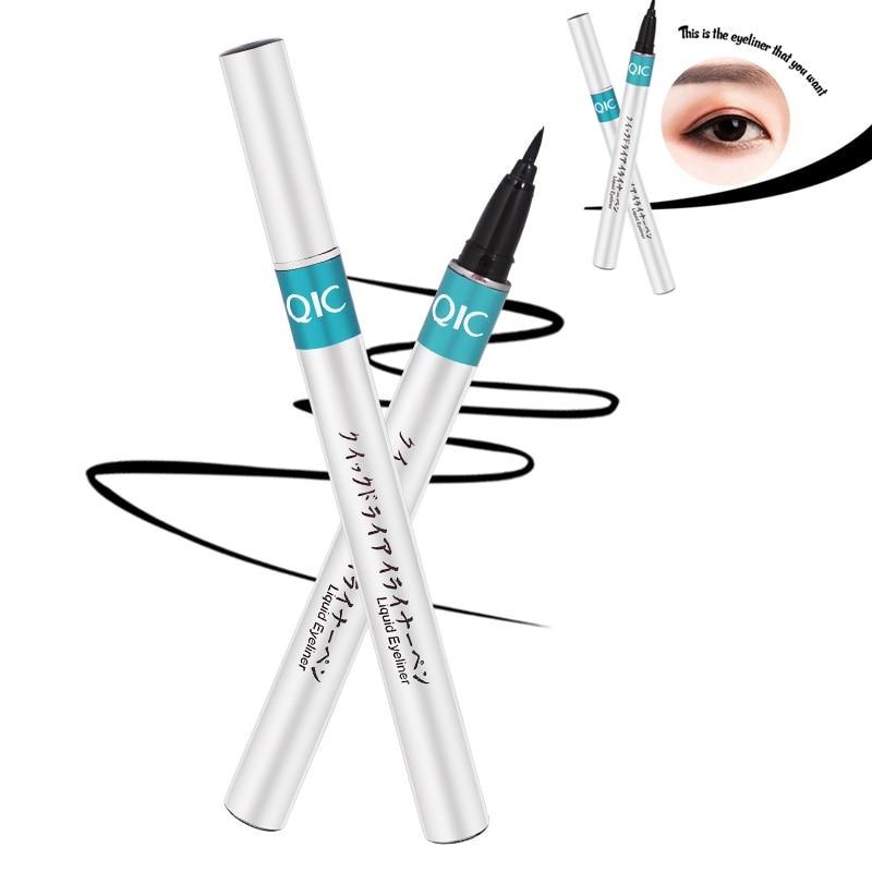 2019 nuevo negro japonés de larga duración delineador de ojos lápiz líquido de secado rápido delineador de ojos lápiz impermeable maquillaje de ojos regalos delineador ojos