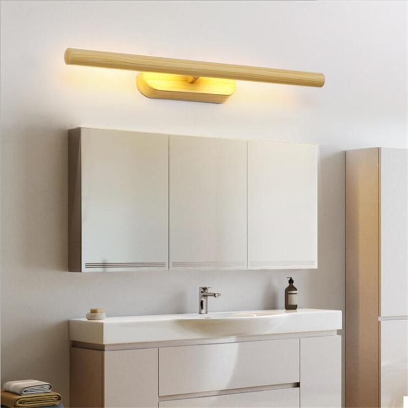 Современный простой черный/белый светодиодный настенный светильник для ванной комнаты, водонепроницаемый противотуманный зеркальный све... - 2