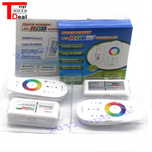 Touch Screen LED RGB / RGBW Controller 2.4G Wireless DC12 24V Touch RF Remote Control For RGB /RGBW LED Strip