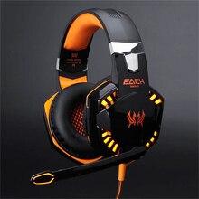 Gaming Headset Auriculares Sobre la Oreja de Teléfono Del Oído Estéreo Casque Auricular Auriculares de Juegos de PC con Micrófono y Luz Led Para Ordenador escritorio