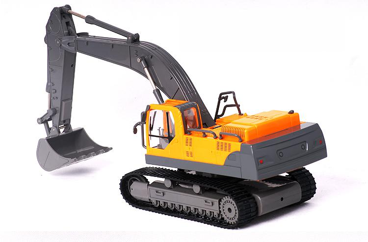 Big Remote Control Digger Boy RC Excavator Toy Kids Electric Big Rc Car Trailer Remote Control Truck Car Toy With Radio Control childred 1 32 detachable kids electric big rc container truck boy model car remote control radio truck toy with sound