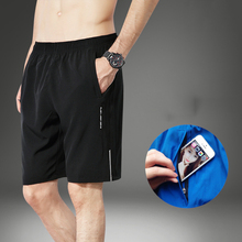 NEW 2019 Summer Active Casual loose Zipper pocket Shorts male breathable fitness thin quick drying Short trousers plus Size 7XL active casual quick drying top