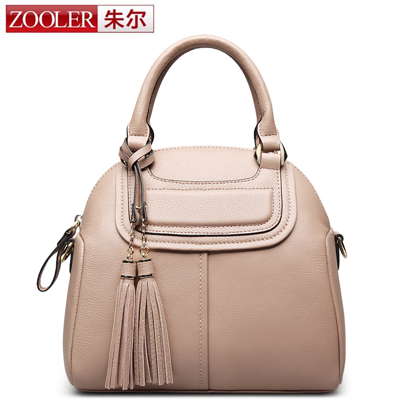 ZOOLER 100% REAL Natural Genuine Leather Women Small Handbag High Quality Famous Design Brand Bags Tassel Shoulder Messenger Bag zooler 100% real natural genuine leather women small handbag high quality famous design brand bags tassel shoulder messenger bag