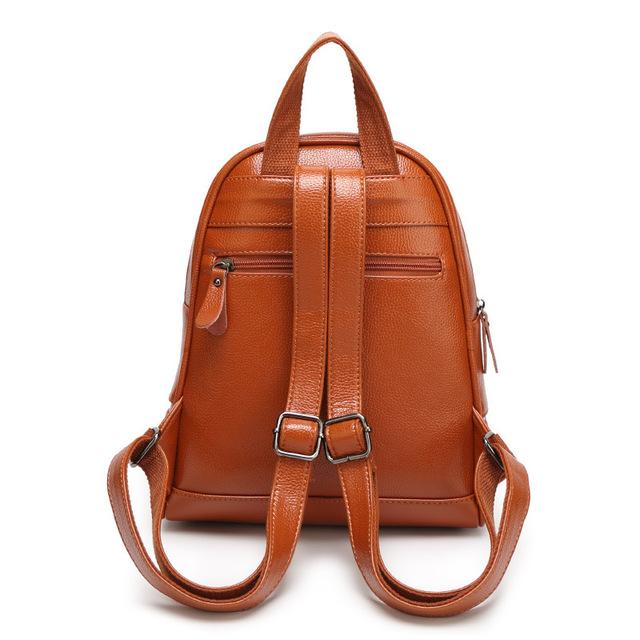 2019 New Fashion Women Backpacks Rivet High Quality Pu Leather Female Ladies Bag Korean Student Backpack Preppy Style Bag