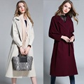 2016Autumn Women long trench coat turn down collar outwear cardigan adjustable waist windbreaker Plus size Casaco Feminino XXXXL
