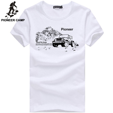 Pioneer Camp fashion mens t shirt short sleeve casual male tshirt t-shirt white grey dark blue long in stock 405033