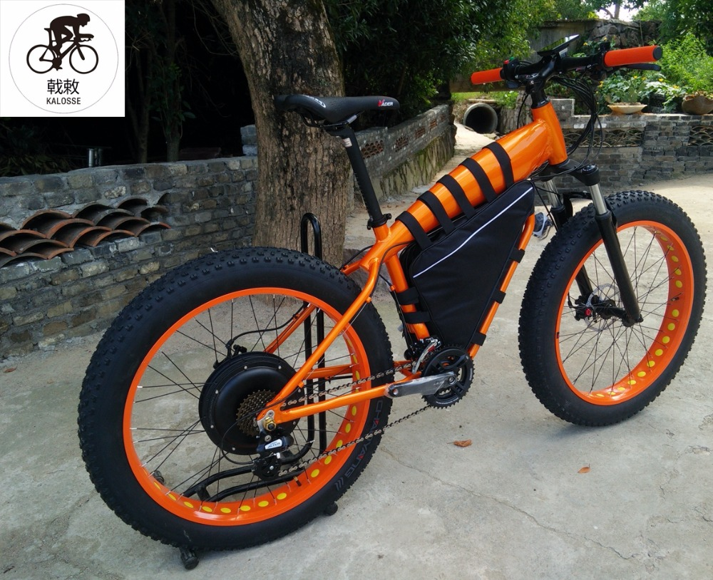 Electric Bicycle Kalosse 26*4.0 Tires Diy Colors 27 Speed M4000 48v 1000w Hydraulic Brakes Electric Fat Bike Electrical Snow Bike Reputation First