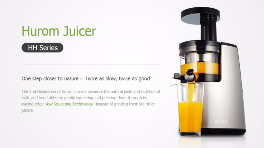 Hurom Slow Juicer Manual : HUROM Household Slow Juicer 2nd Generation Fruit vegetable ...