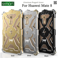Simon Brand Thor Series Aviation Aluminum Metal Rugged Armor Cover Case For Huawei Mate 8 Drop