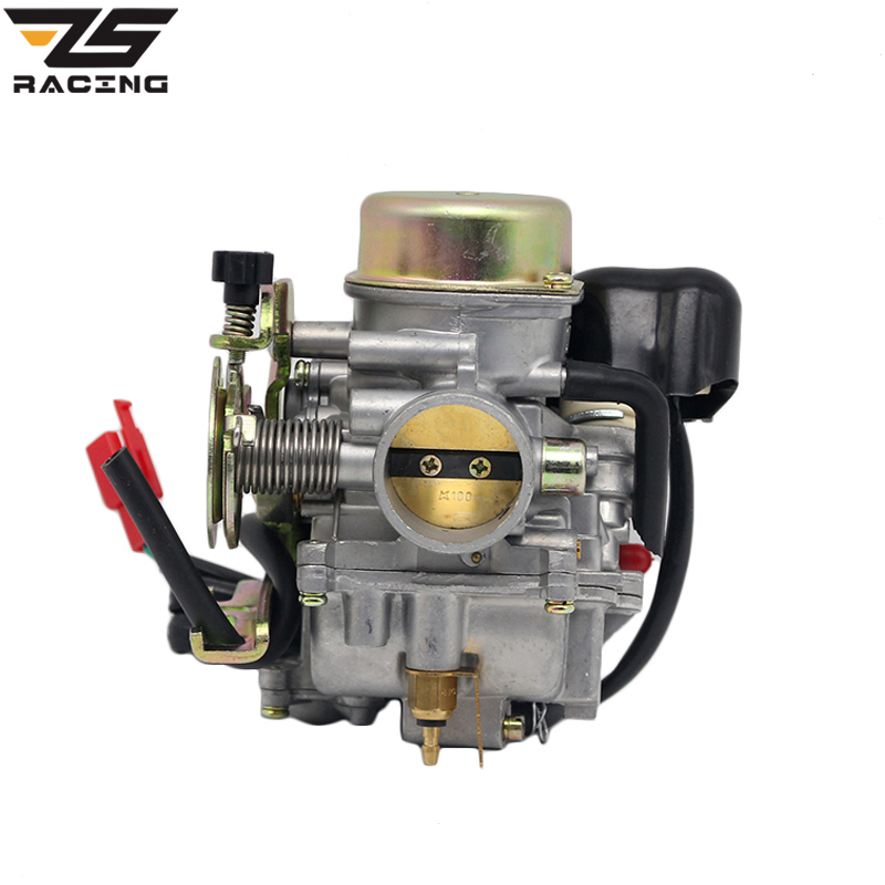 ZS Racing Top Cable Pull CVK30 Carburetor With Heater For ATV UTV MANCO TALON Linhai Aeolus