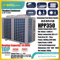 10P heat pump with titanium heat exchanger is nice for 50~75sqm swimming pool, low runing costs and super energy saving