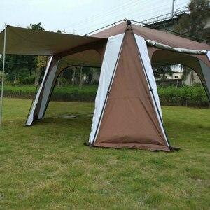 Image 3 - 5 8 kişi açık katlanır çadır hızlı otomatik açılış Pergola çift katmanlı kamp çadırı artırılmış su geçirmez güneş barınak